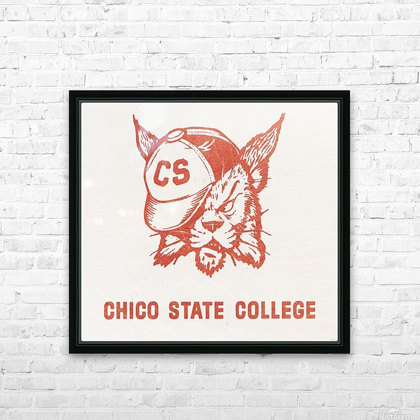 1950s Chico State College Wildcat Art HD Sublimation Metal print with Decorating Float Frame (BOX)
