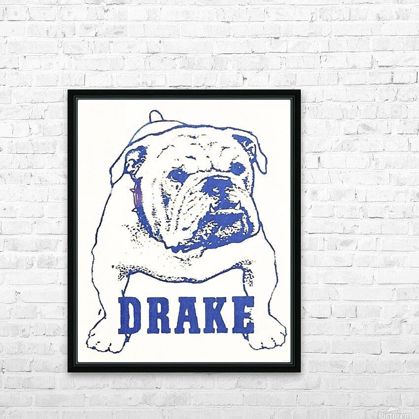 1950s Drake Bulldog Art HD Sublimation Metal print with Decorating Float Frame (BOX)