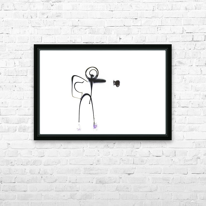 Stick man punch  HD Sublimation Metal print with Decorating Float Frame (BOX)