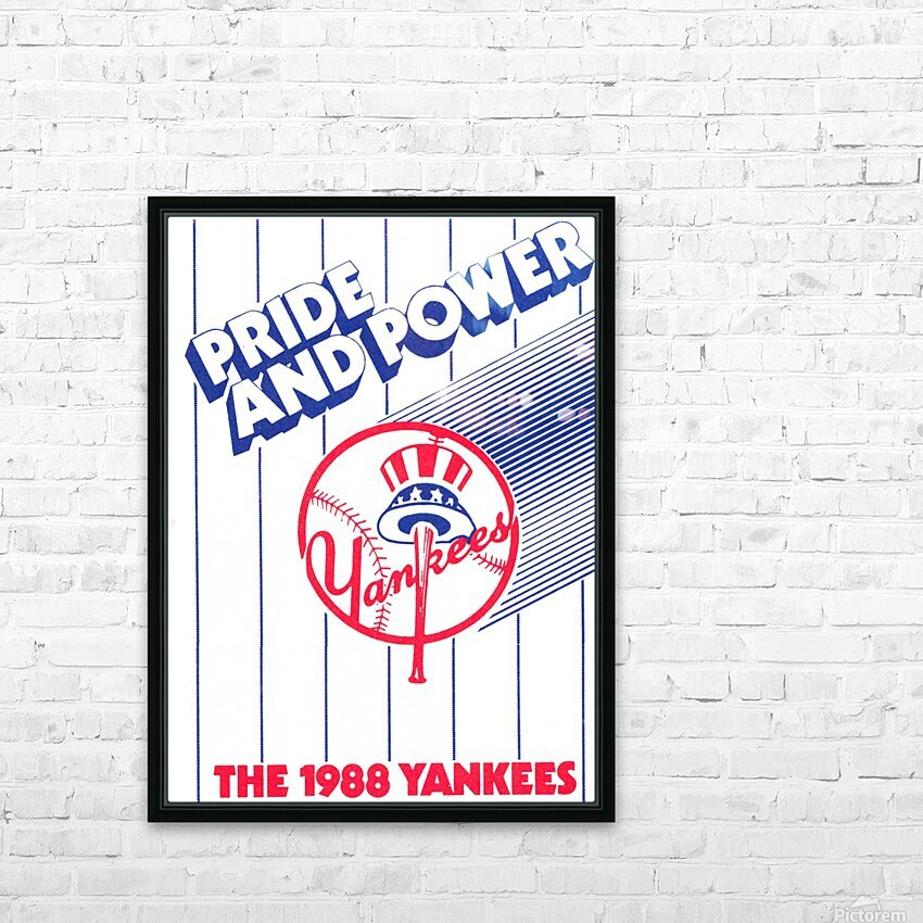 1988 New York Yankees Art HD Sublimation Metal print with Decorating Float Frame (BOX)