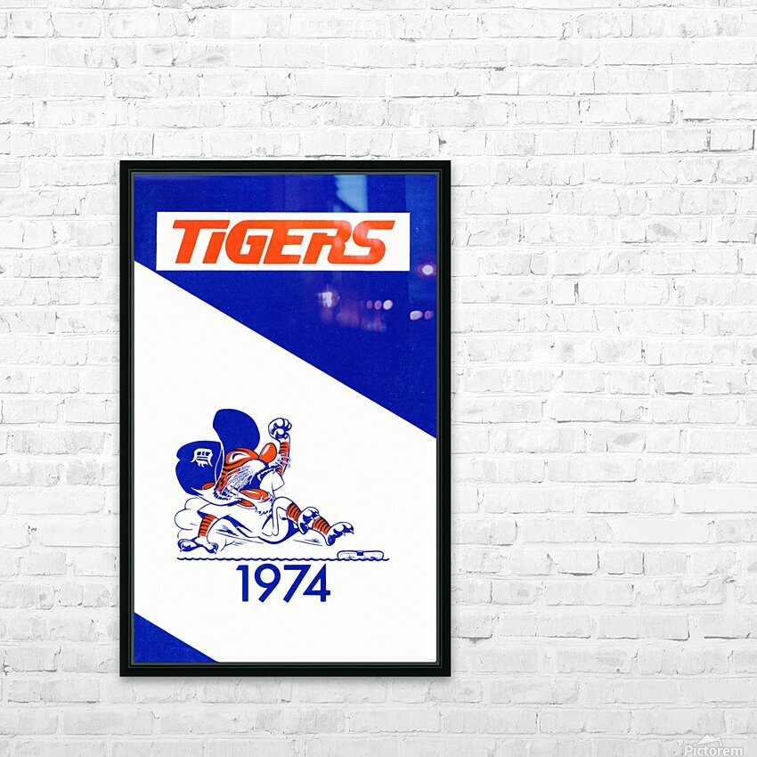 1974 Detroit Tigers Art HD Sublimation Metal print with Decorating Float Frame (BOX)