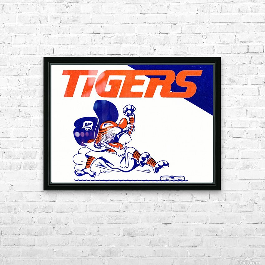 Tigers Cartoon HD Sublimation Metal print with Decorating Float Frame (BOX)