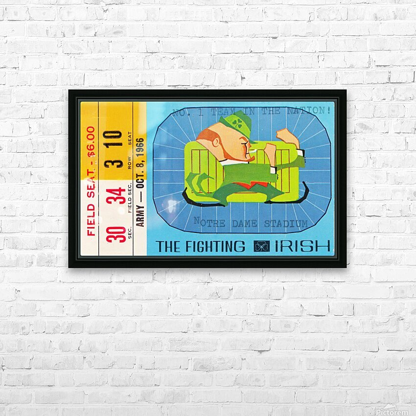 1966 Army vs. Notre Dame HD Sublimation Metal print with Decorating Float Frame (BOX)