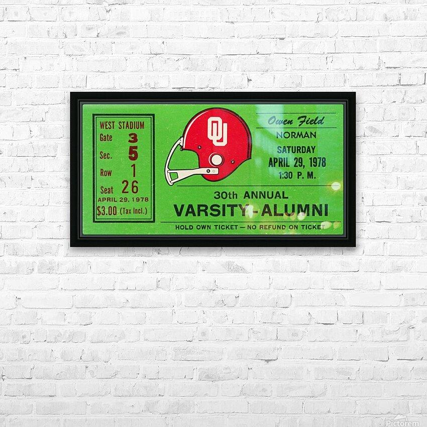 1978 Oklahoma Sooners Varsity Alumni Game HD Sublimation Metal print with Decorating Float Frame (BOX)