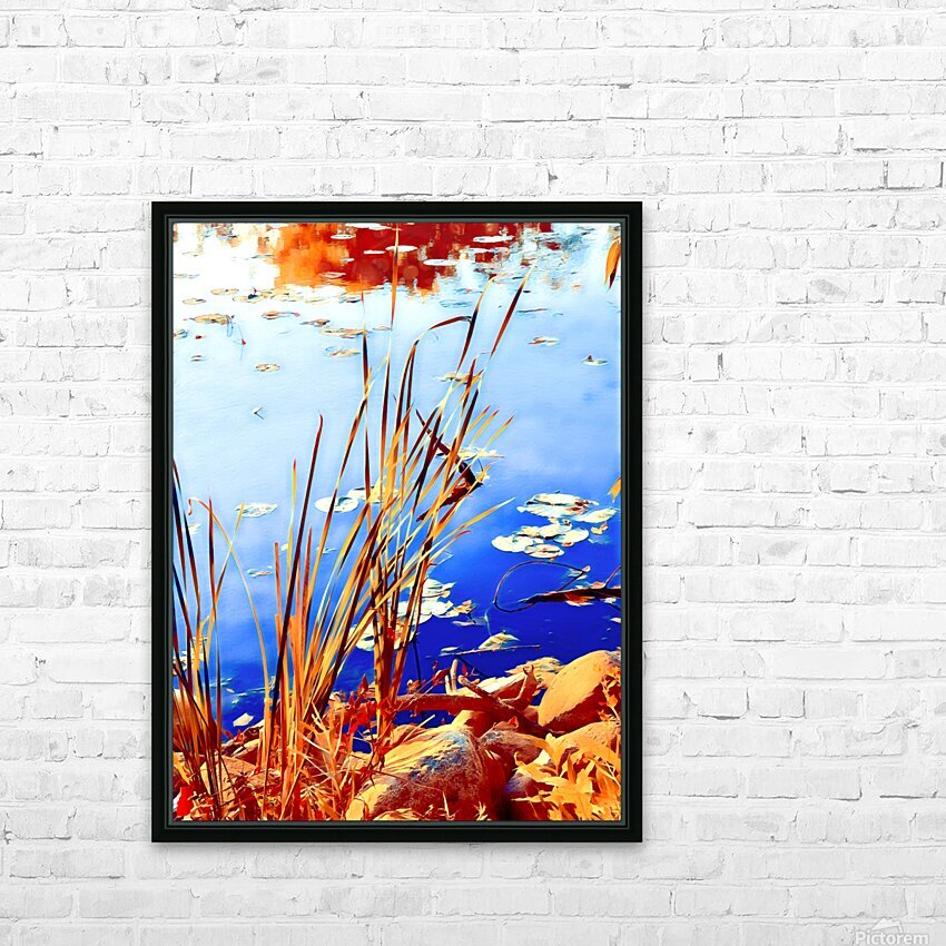 Reed Grasses  HD Sublimation Metal print with Decorating Float Frame (BOX)