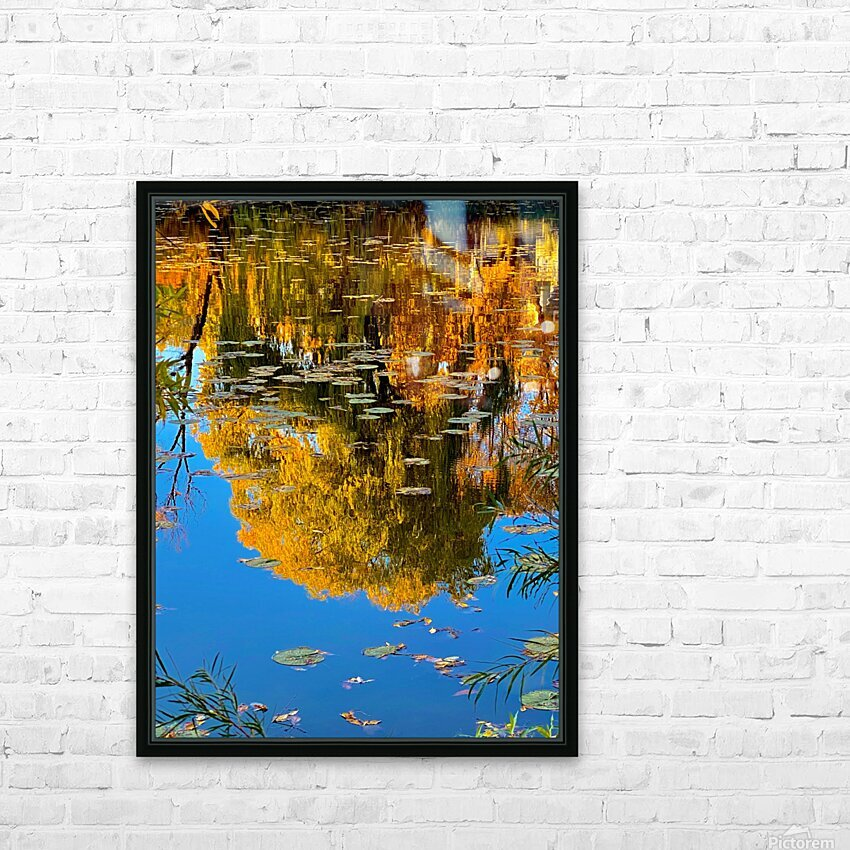 autumn reflection HD Sublimation Metal print with Decorating Float Frame (BOX)