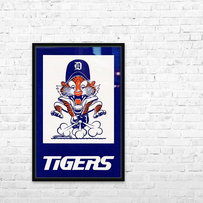 1972 Detroit Tigers Art HD Sublimation Metal print with Decorating Float Frame (BOX)