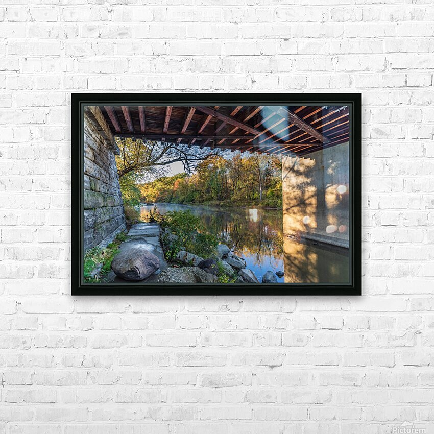 Grand River at Mechanicsville Ohio HD Sublimation Metal print with Decorating Float Frame (BOX)
