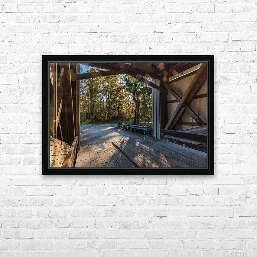 Portal of Mechanicsville covered bridge Ashtabula County Ohio HD Sublimation Metal print with Decorating Float Frame (BOX)