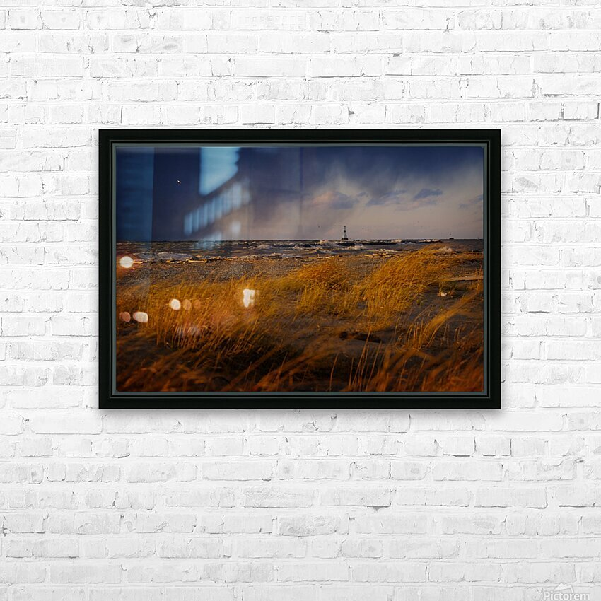 Conneaut Lighthouse Lake Erie HD Sublimation Metal print with Decorating Float Frame (BOX)