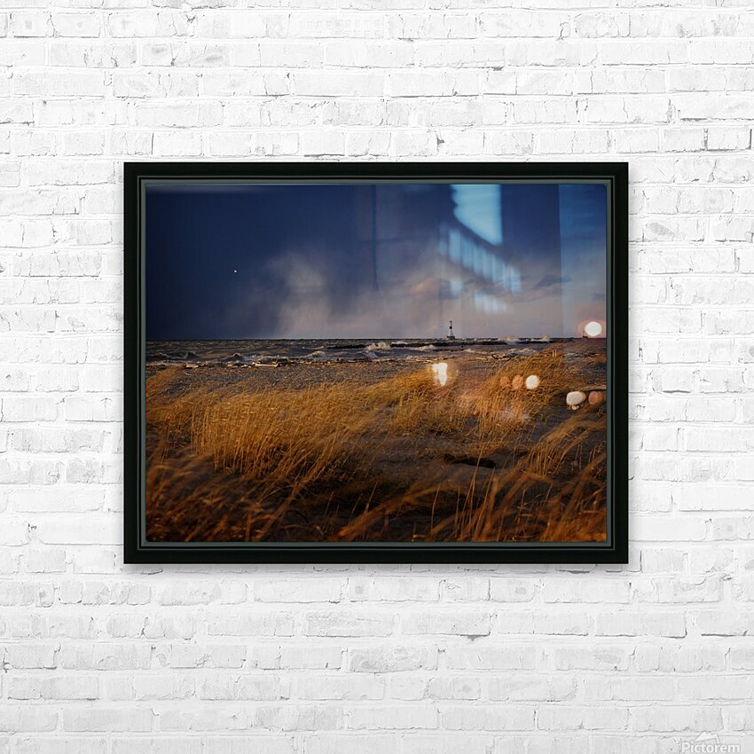 Conneaut Lighthouse Lake Erie Ohio HD Sublimation Metal print with Decorating Float Frame (BOX)