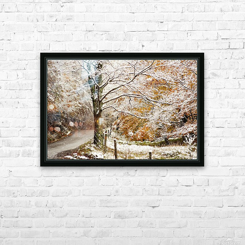 October snow Canaan Valley WVa HD Sublimation Metal print with Decorating Float Frame (BOX)