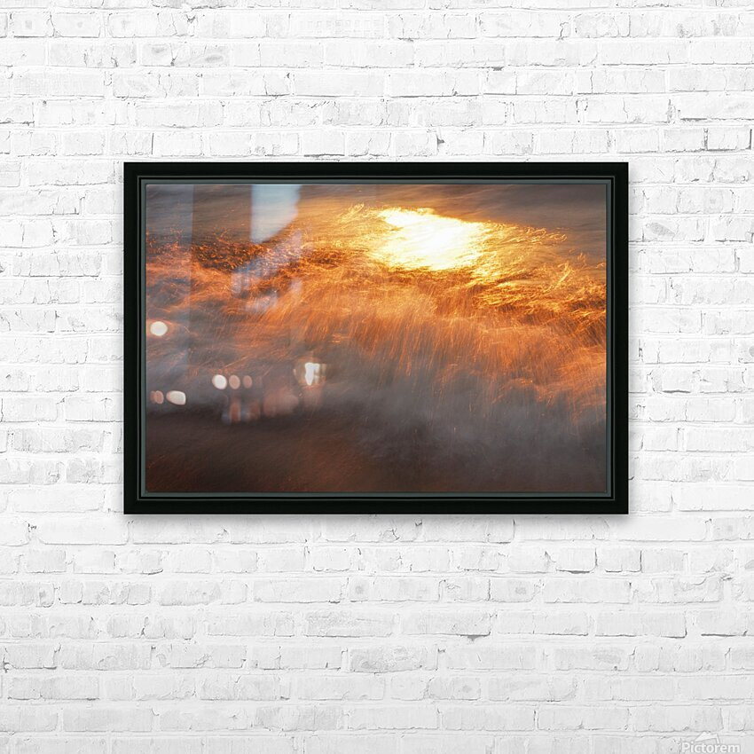 Lake Erie waves 8 HD Sublimation Metal print with Decorating Float Frame (BOX)