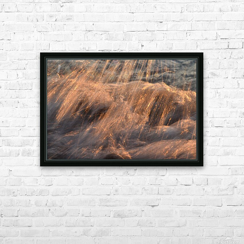 Lake Erie waves 7 HD Sublimation Metal print with Decorating Float Frame (BOX)