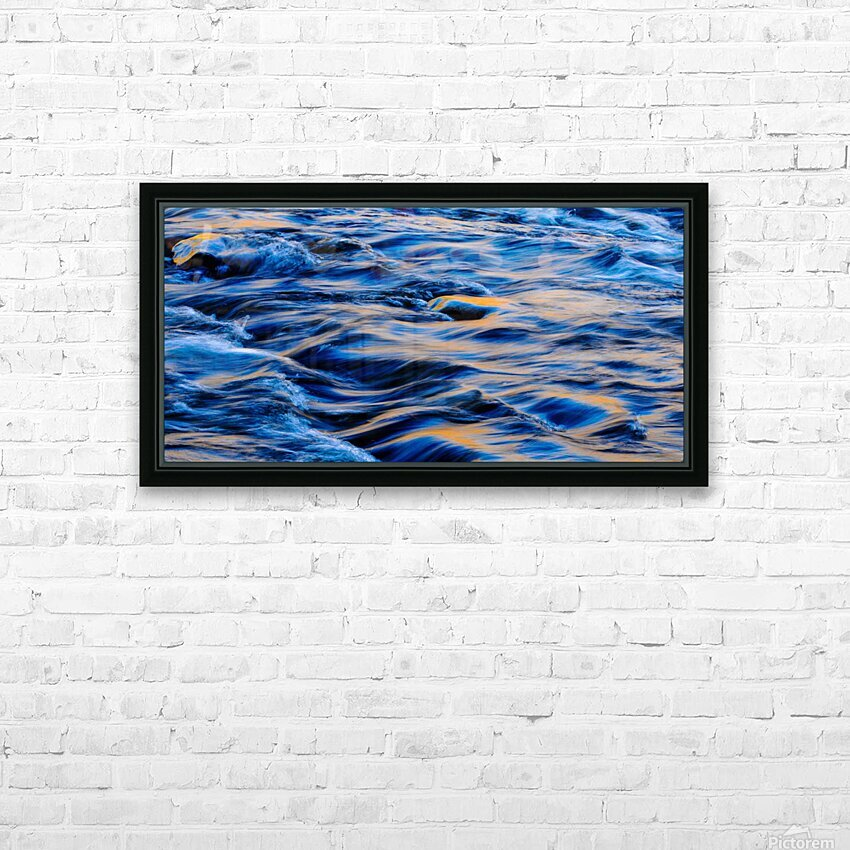 Flowing reflections 5 HD Sublimation Metal print with Decorating Float Frame (BOX)
