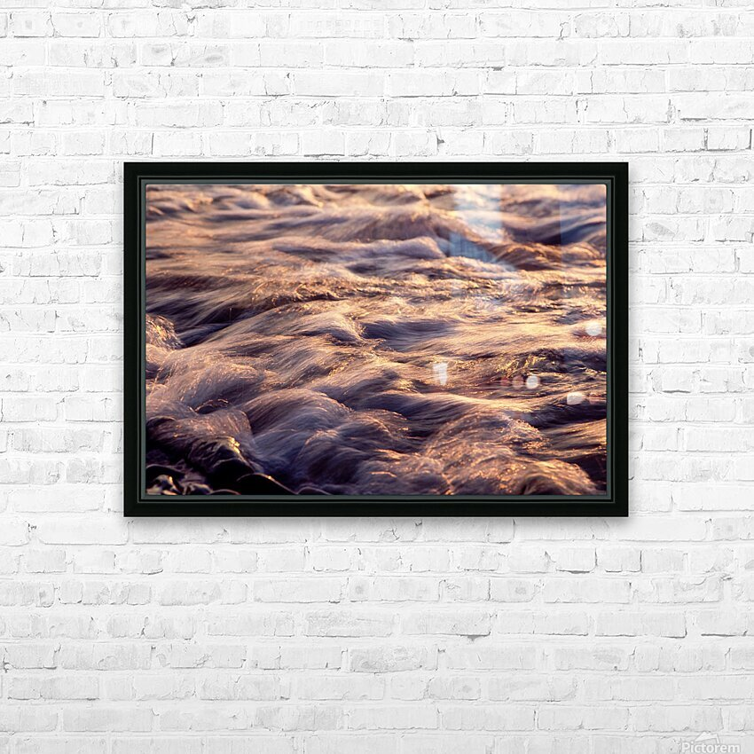 Lake Erie waves 6 HD Sublimation Metal print with Decorating Float Frame (BOX)