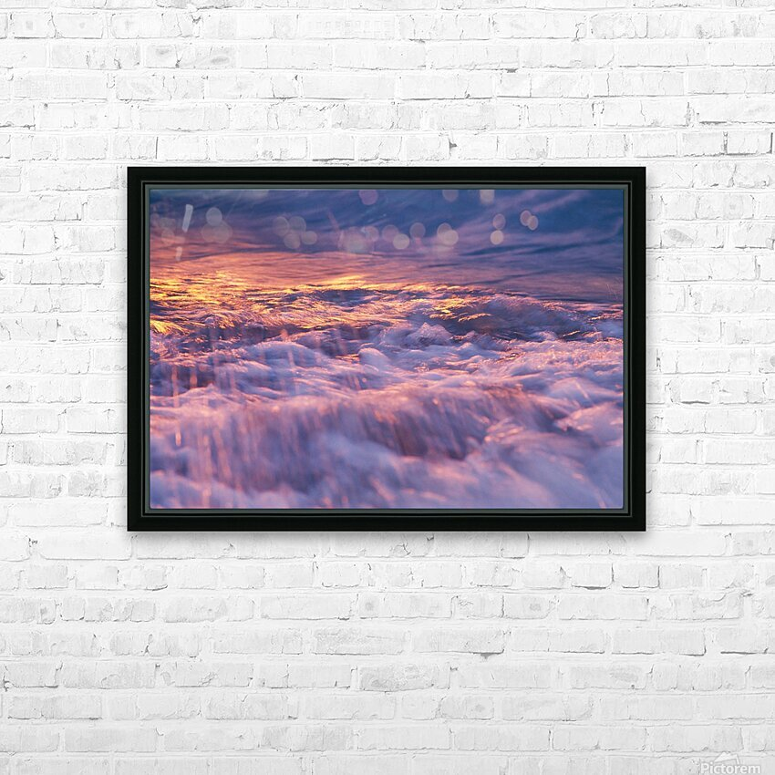 Lake Erie waves 3 HD Sublimation Metal print with Decorating Float Frame (BOX)