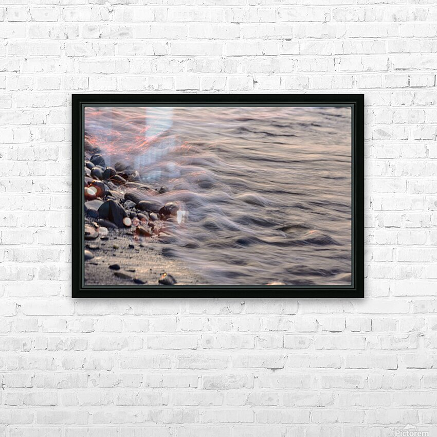 Lake Erie waves 2 HD Sublimation Metal print with Decorating Float Frame (BOX)