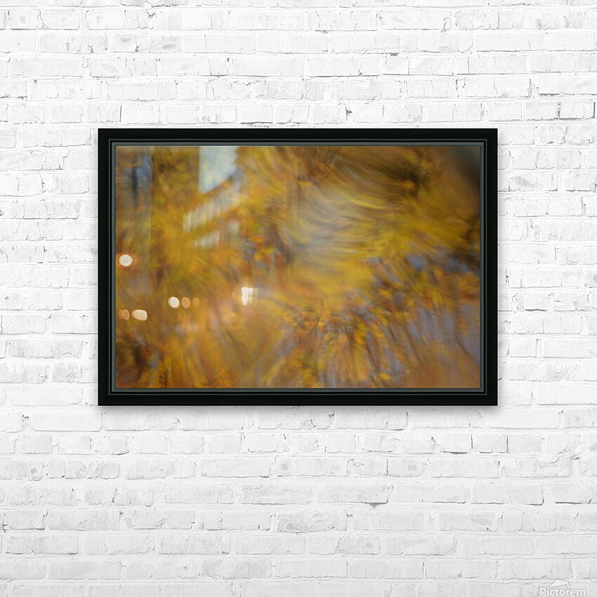 Autumnal swirls reflections 2 HD Sublimation Metal print with Decorating Float Frame (BOX)
