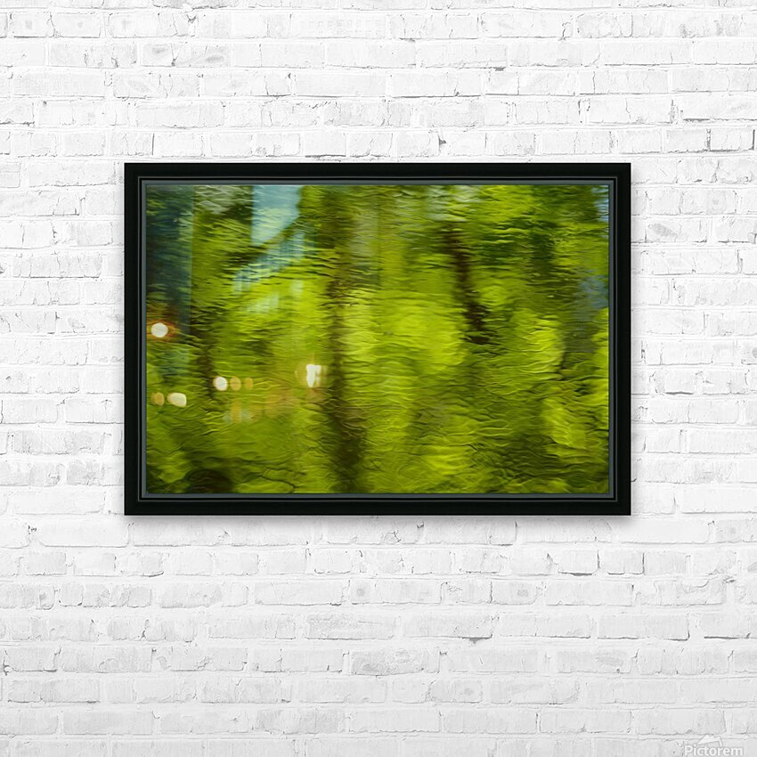Flowing reflections spring HD Sublimation Metal print with Decorating Float Frame (BOX)