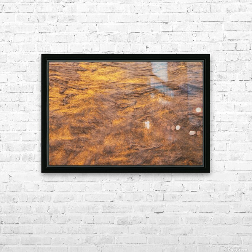 Lake Erie waves 1 HD Sublimation Metal print with Decorating Float Frame (BOX)