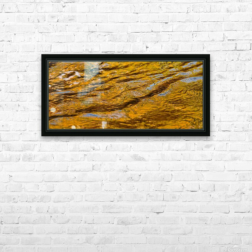 Flowing reflections 4 HD Sublimation Metal print with Decorating Float Frame (BOX)