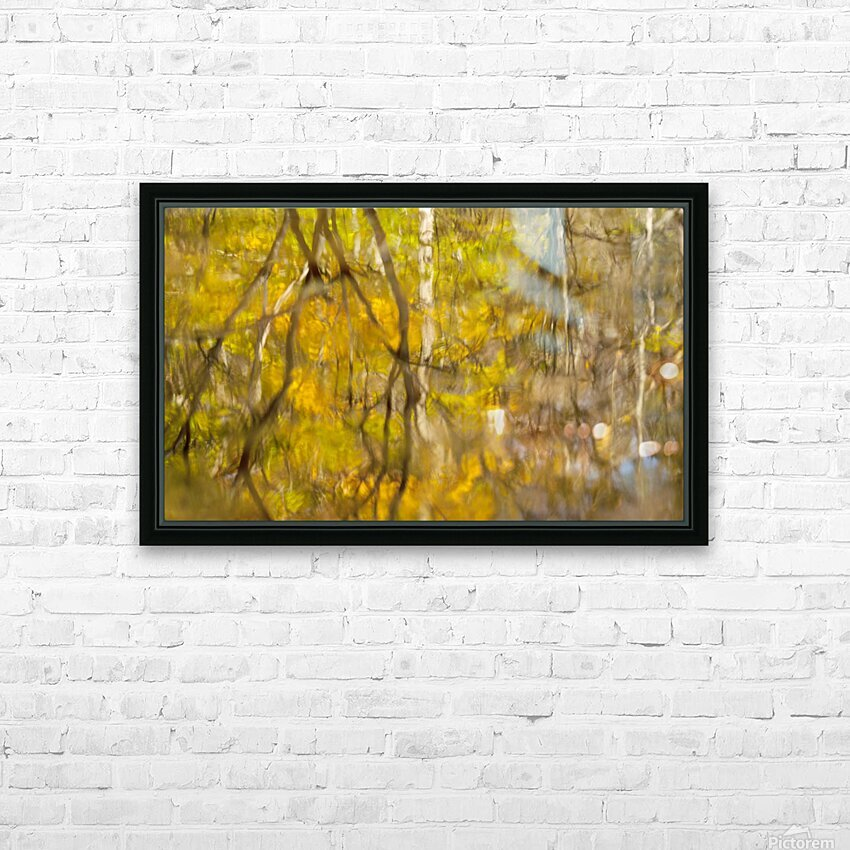 Autumnal swirls reflections HD Sublimation Metal print with Decorating Float Frame (BOX)