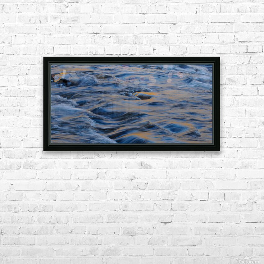 Flowing reflections 3 HD Sublimation Metal print with Decorating Float Frame (BOX)