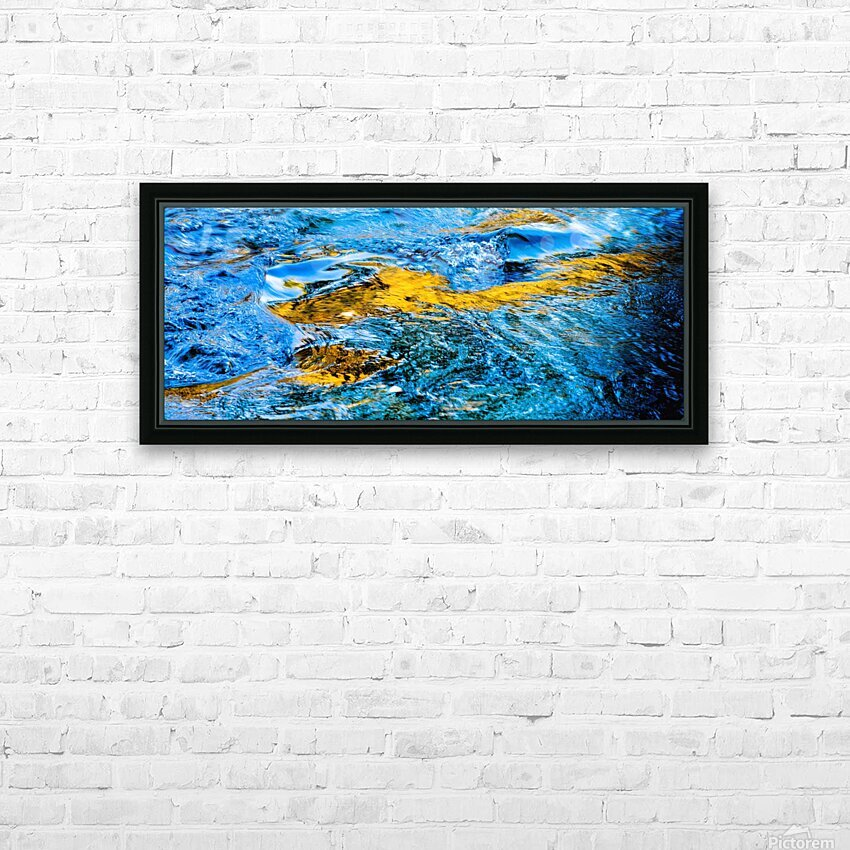 Flowing reflections 1 HD Sublimation Metal print with Decorating Float Frame (BOX)