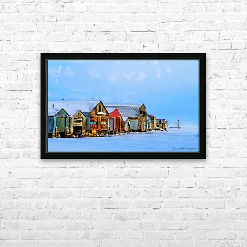 Boat Houses HD Sublimation Metal print with Decorating Float Frame (BOX)