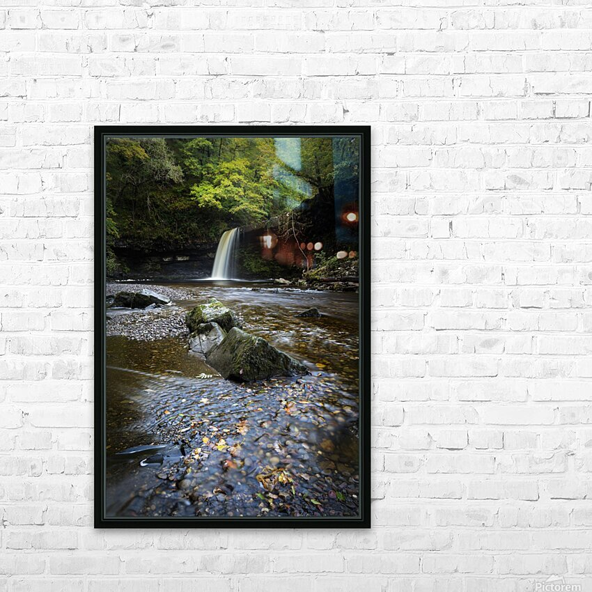 Autumn at Sgwd Gwladus HD Sublimation Metal print with Decorating Float Frame (BOX)