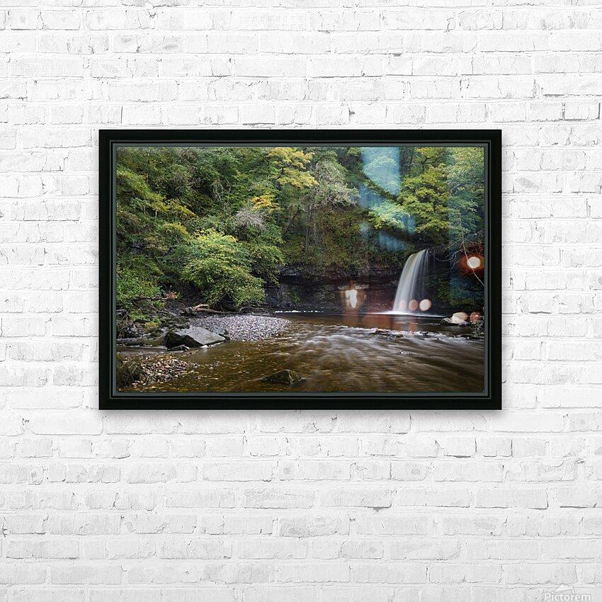 Sgwd Gwladus near Pontneddfechan HD Sublimation Metal print with Decorating Float Frame (BOX)