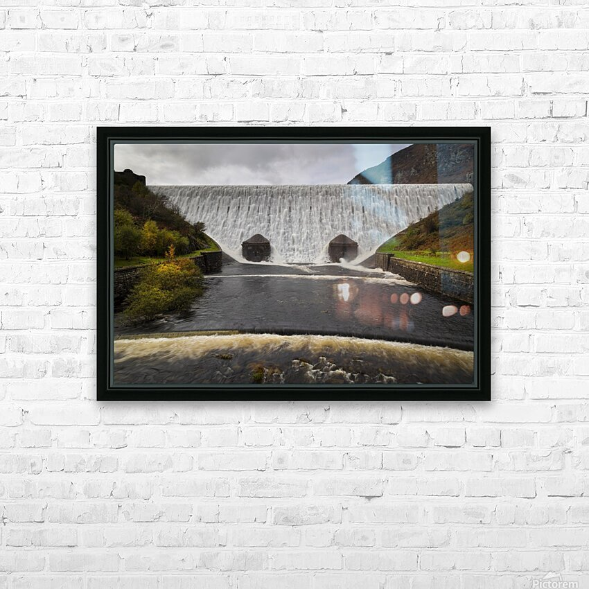 The Elan Valley dam HD Sublimation Metal print with Decorating Float Frame (BOX)