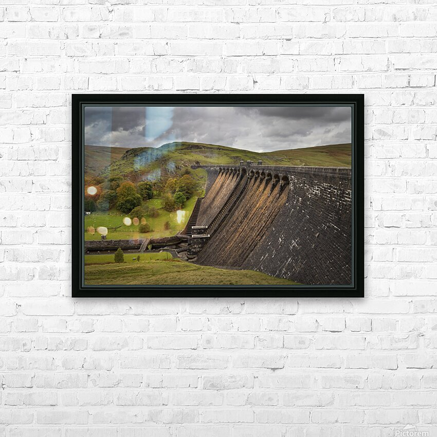 The Claerwen reservoir dam in Powys HD Sublimation Metal print with Decorating Float Frame (BOX)