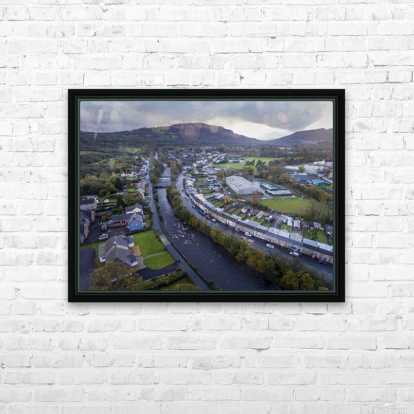 The river Tawe in Ystradgynlais HD Sublimation Metal print with Decorating Float Frame (BOX)