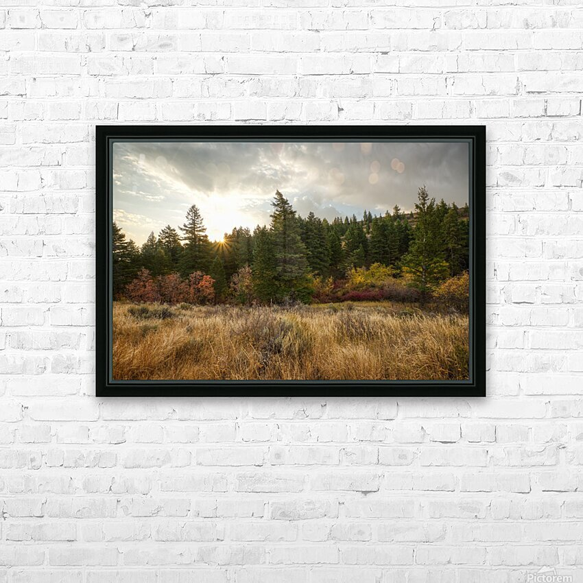 Gibson Jack Autumn Sunrise HD Sublimation Metal print with Decorating Float Frame (BOX)