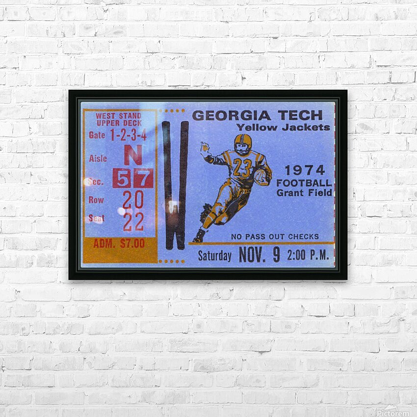 1974 georgia tech remix HD Sublimation Metal print with Decorating Float Frame (BOX)