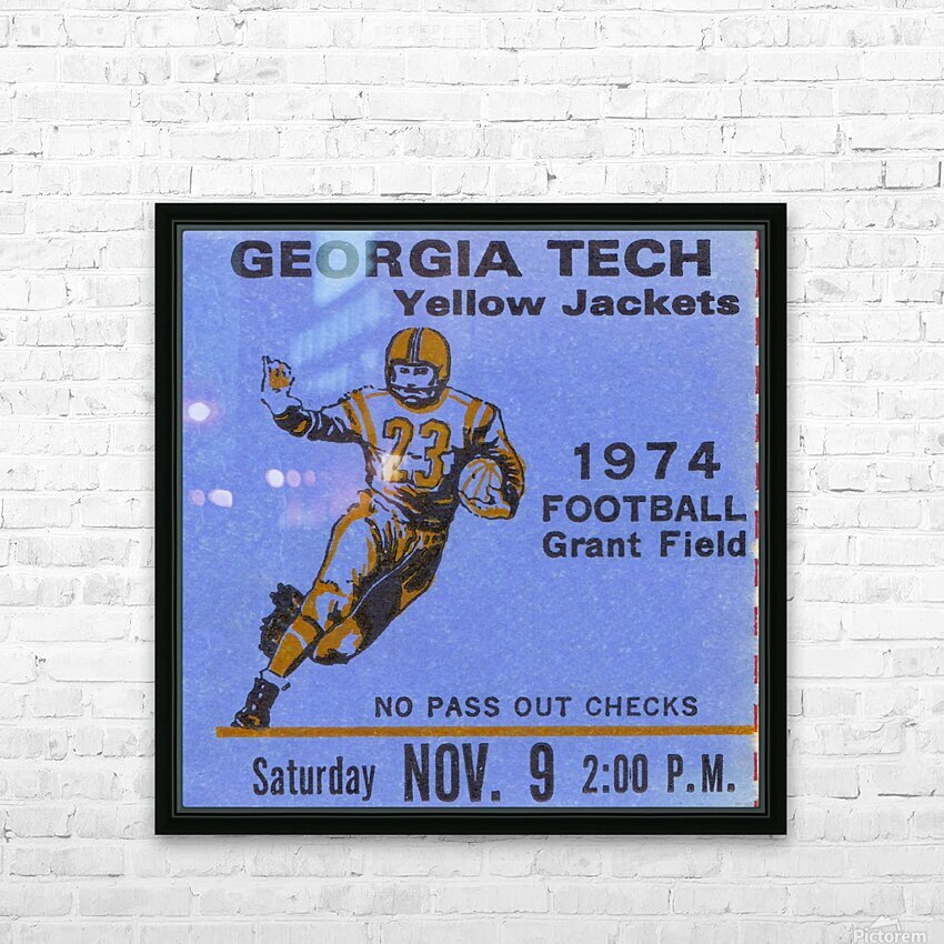 1974 georgia tech crop remix HD Sublimation Metal print with Decorating Float Frame (BOX)