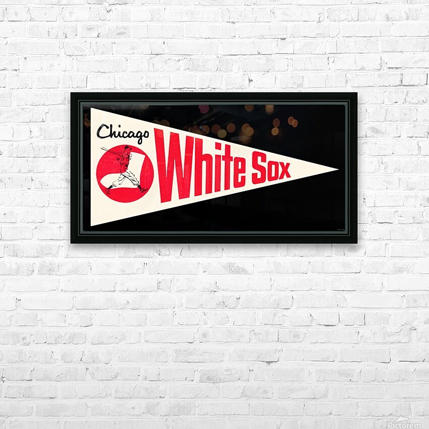 1962 Chicago White Sox Art HD Sublimation Metal print with Decorating Float Frame (BOX)