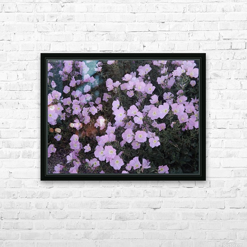 Flower Garden HD Sublimation Metal print with Decorating Float Frame (BOX)