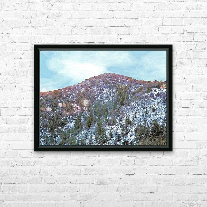 Melting Snow HD Sublimation Metal print with Decorating Float Frame (BOX)