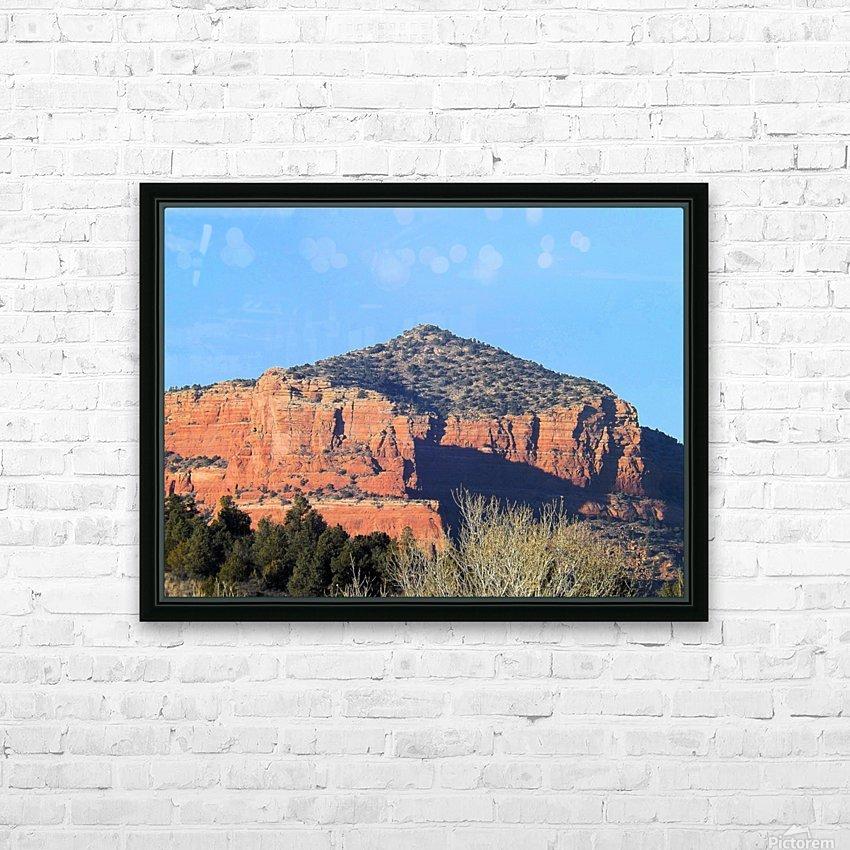 More Red Rocks HD sublimation métal imprimé avec décoration flotteur cadre (boîte)