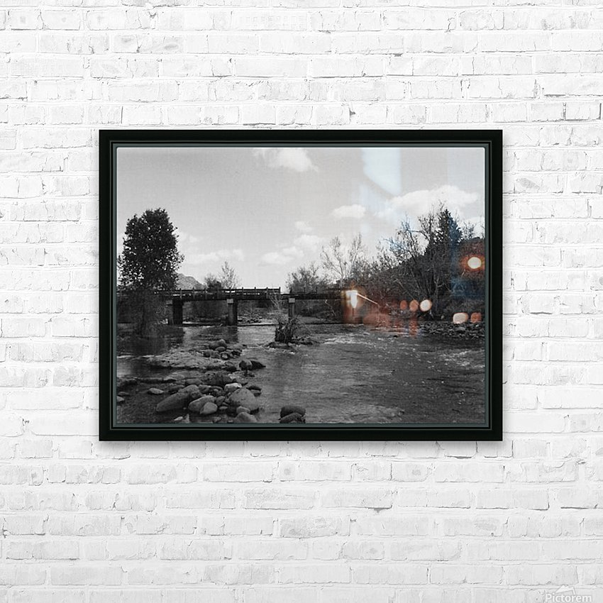 Old Railroad HD Sublimation Metal print with Decorating Float Frame (BOX)