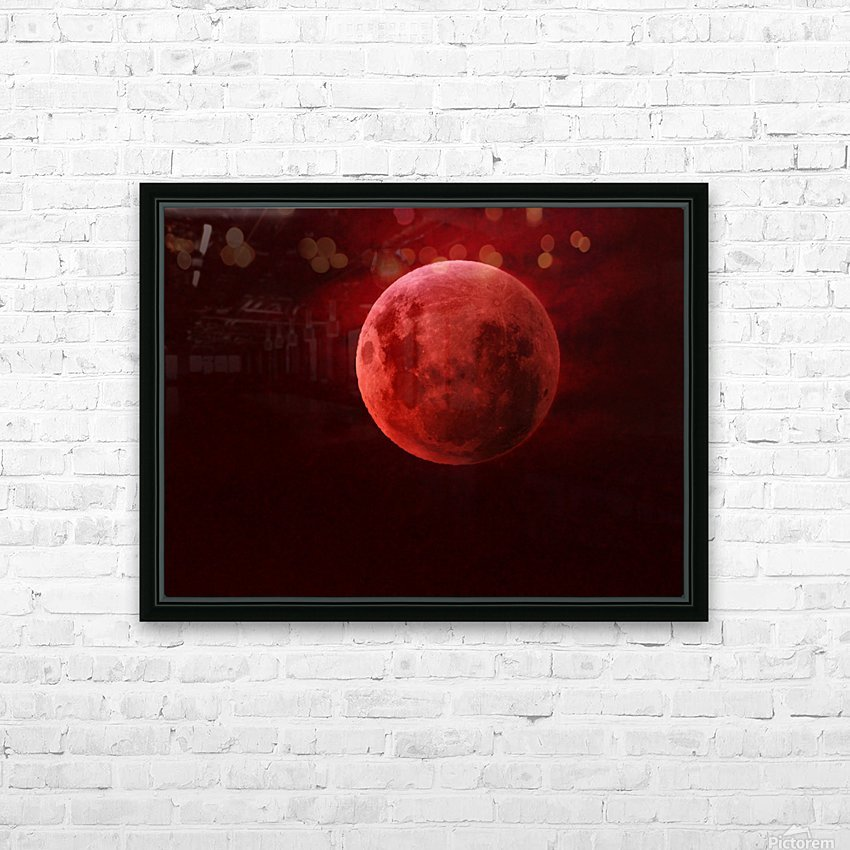 One Red Moon HD Sublimation Metal print with Decorating Float Frame (BOX)