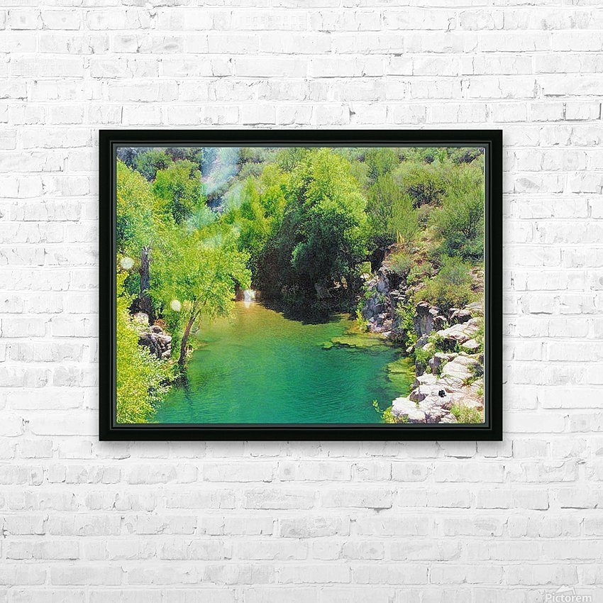 Pond HD Sublimation Metal print with Decorating Float Frame (BOX)