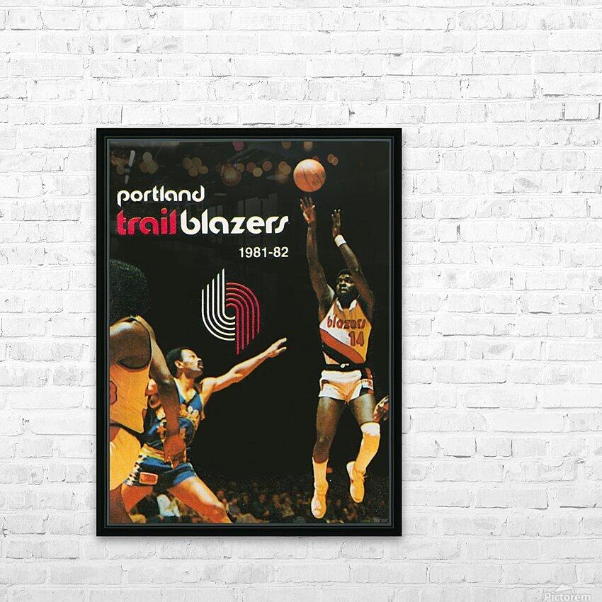 1981 Portland Trailblazers Art HD Sublimation Metal print with Decorating Float Frame (BOX)