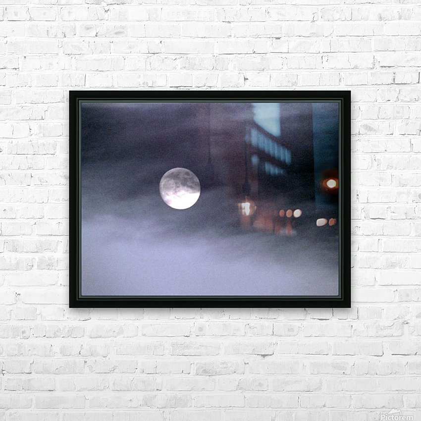 Full Moon HD Sublimation Metal print with Decorating Float Frame (BOX)