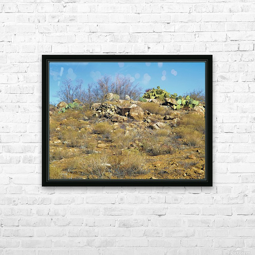 Rock n Cactus HD Sublimation Metal print with Decorating Float Frame (BOX)