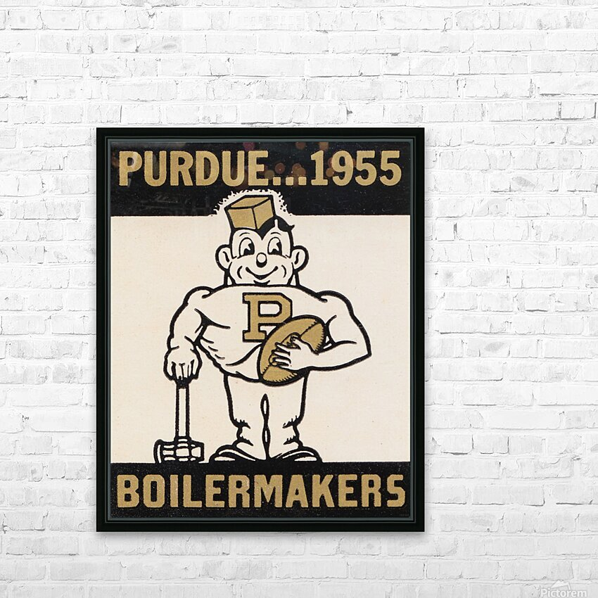 Vintage Purdue Boilermakers Art Print HD Sublimation Metal print with Decorating Float Frame (BOX)