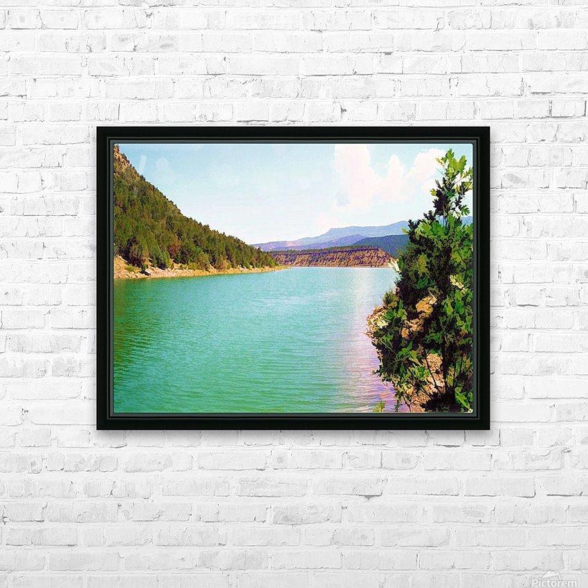 Utah Lake HD sublimation métal imprimé avec décoration flotteur cadre (boîte)